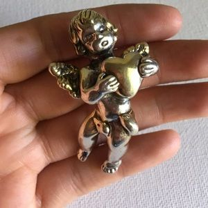 925 Silver Angel Brooch/Pendant
